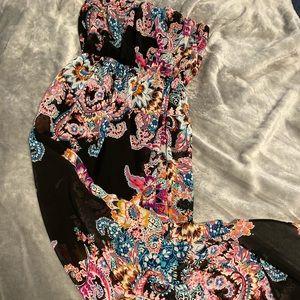 Express maxi dress with sheer bottom